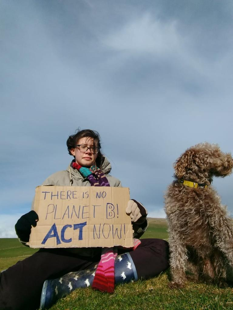 Meghan's photo on #ClimateStrikeUK