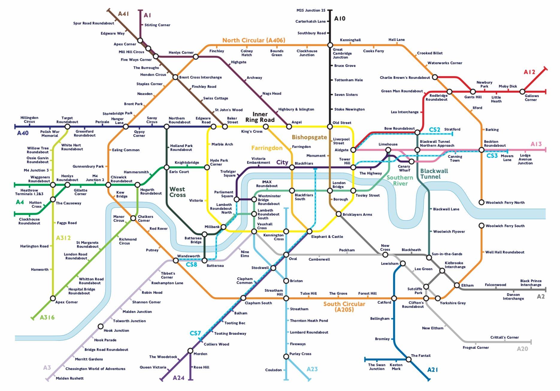 D1tFblyXQAEer4n - London's Carmageddon map