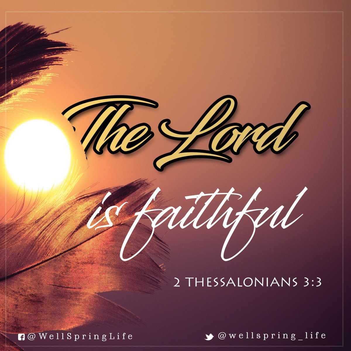 But the Lord is faithful, who will establish you and guard you from the evil one. 2 Thessalonians 3:3 #FridayThoughts #Fridaymotivation #JesusSaves<br>http://pic.twitter.com/ZXKJ7Lcwsu