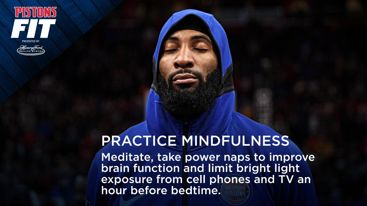 Practicing mindfulness is good for your health. We share a few tips in this week's #PistonsFit presented by @HenryFordNews #NBAFit