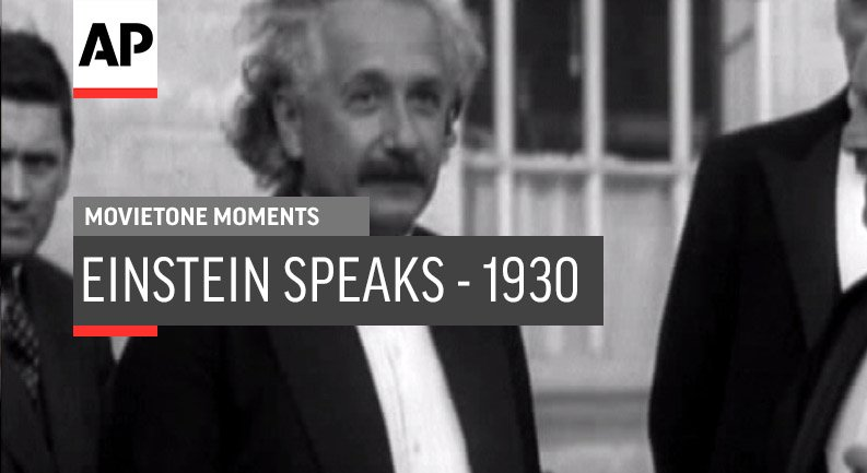 This week's #MovietoneMoment clip is in honor of Albert Einstein who was born on March 14, 1879. See footage of Einstein in 1930. http://apne.ws/B639E7y