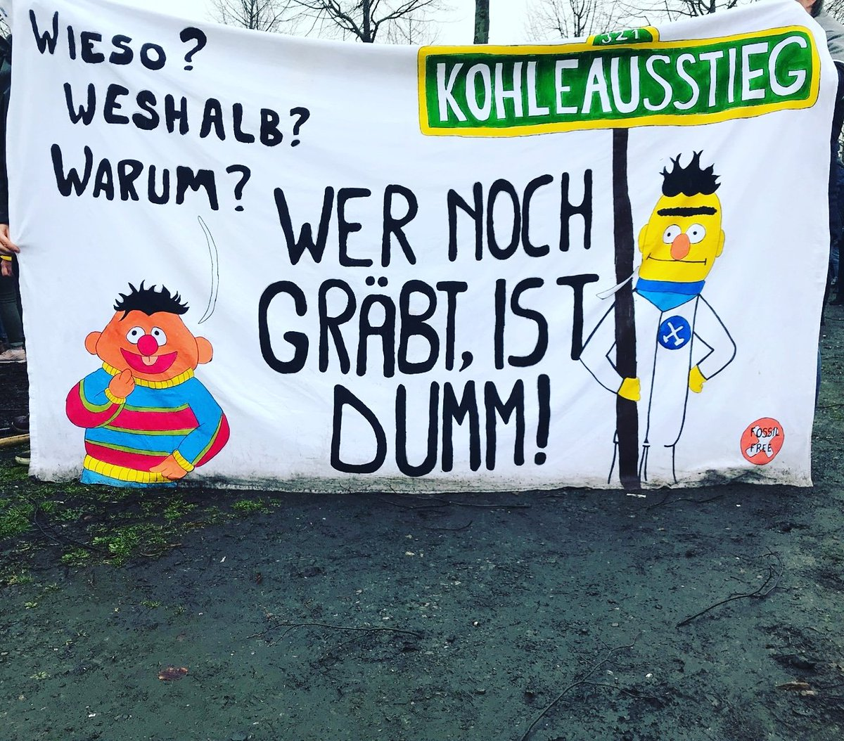 Aktion Unterholz's photo on #Klimastreik