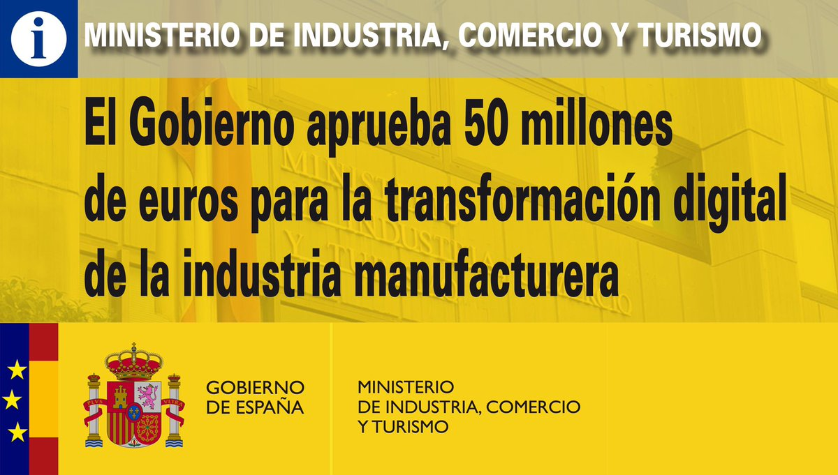 Ministerio de Industria, Comercio y Turismo's photo on #CMin