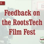 Image for the Tweet beginning: RootsTech Film Fest Feedback