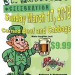 DJ's Dugout Bellevue & Plattsmouth locations ONLY will be serving Corned Beef & Cabbage for $9.99 on St. Patrick's Day! While supplies last. Wear green & come in & celebrate this Sunday!