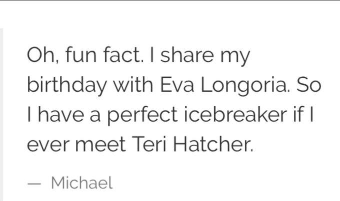 Happy Birthday to Michael Scott and Eva Longoria!