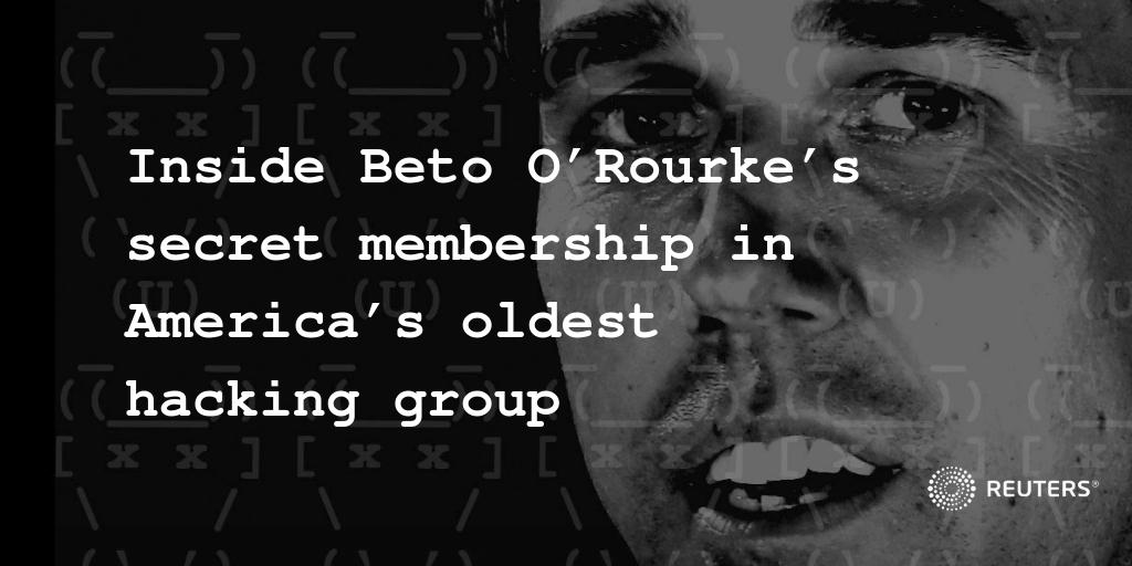 Fresh U.S presidential candidate @BetoORourke was a member of the country's oldest hacking group, which has kept his role a secret for decades – until now. My story is up on Reuters at https://www.reuters.com/investigates/special-report/usa-politics-beto-orourke/…, but let me say a little more in this thread. (1/10)