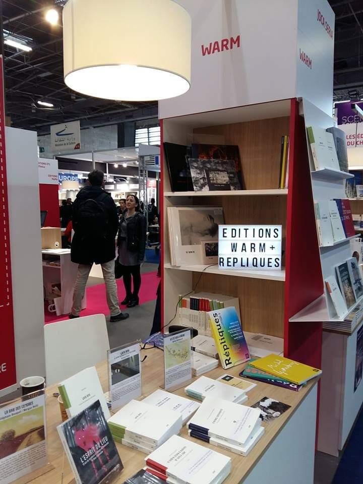 Grâce aux amis des éditions #WARM, le catalogue de #Répliques est représenté sur le stand de la #RégionPaysdelaLoire au #salondulivre Paris 2019.