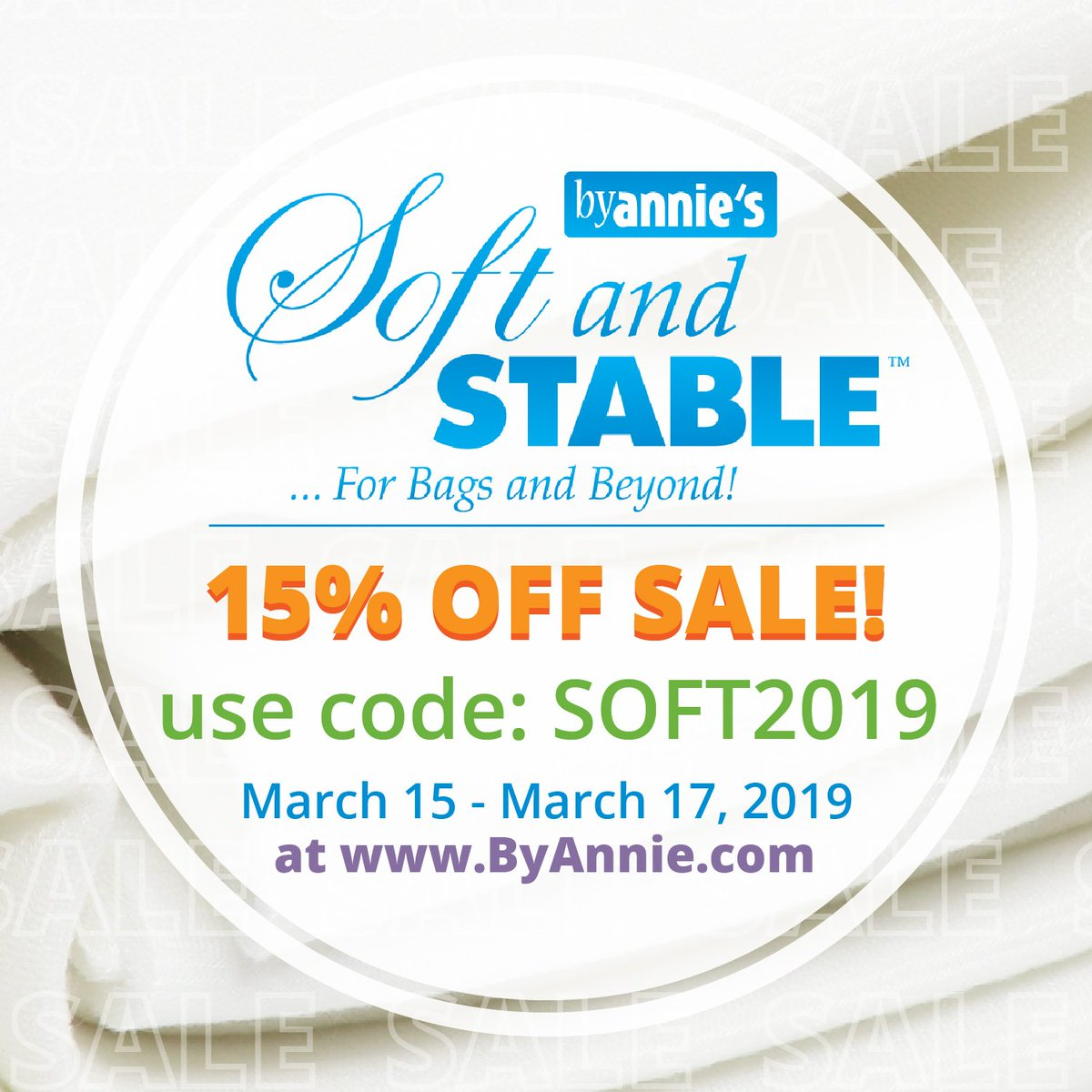 #SoftAndStable SALE at http://www.byannie.com! Get 15% OFF when you use the code SOFT2019 from today (March 15th, 2019) until Sunday (March 17th, 2019). Happy stitching, everyone!  #byanniesale #patternsbyannie #sewingsale #happyquiltingday #internationalquiltingday #diylife