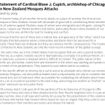 Image for the Tweet beginning: Let us join Cardinal Cupich