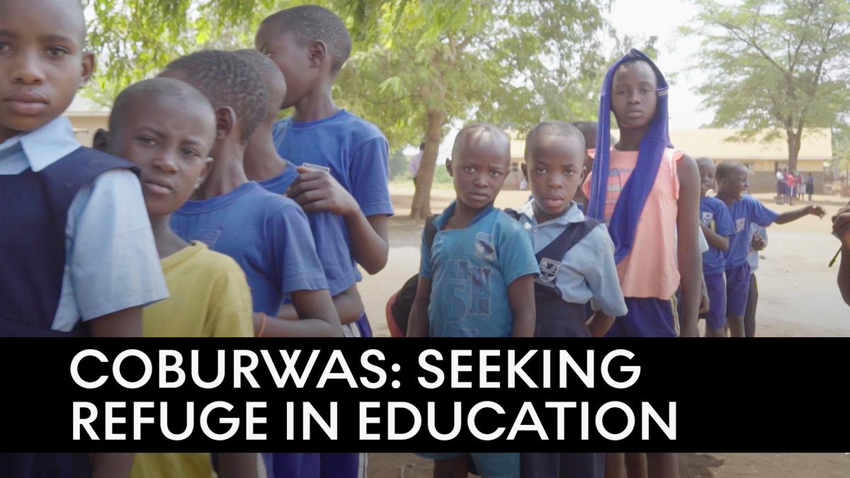 """""""I want to be a doctor when I grow up.""""   This top performing Ugandan school, @COBURWAS, was founded by refugees for refugees to offer students hope through education."""