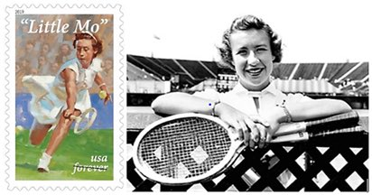 "@USPS to honor #Tennis Champ #MaureenConnollyBrinker ""Little Mo"" with a #Stamp on April 23 in #Dallas. In 1953, she became the 1st woman to win @Wimbledon @AustralianOpen #FrenchOpen &amp; @USOpen. #LittleMoStamp #TennisStamps @mcbtennis @SMUTennis @SMU @SMUAthletics @WTA @APS_stamps<br>http://pic.twitter.com/CSFkVC0wMc"