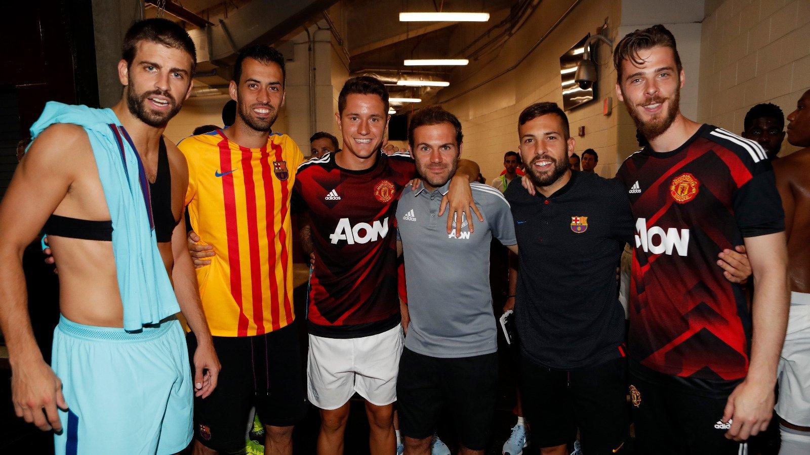 A quarterfinal between old friends ⚽�� #MUFCBarça https://t.co/02Iu6ghJKt