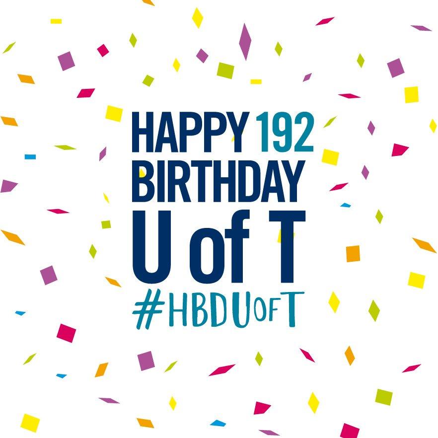 University of Toronto EEB's photo on #HBDUofT