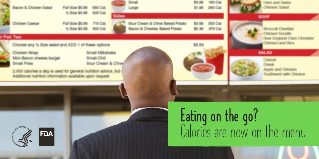 Going out for lunch? Look for calories listed for foods & bevs on menus in chain restaurants, convenience stores, coffee shops & grocery stores.  Compare calorie info BEFORE you order, make choices that are right for YOU.  http://www.fda.gov/caloriesonthemenu …  #NationalNutritionMonth