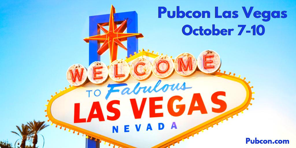 The whole team is prepping for Pubcon Las Vegas! We look forward to seeing you October 7-10th!   Learn more about the conference event of the year -> https://www.pubcon.com/las-vegas-2019