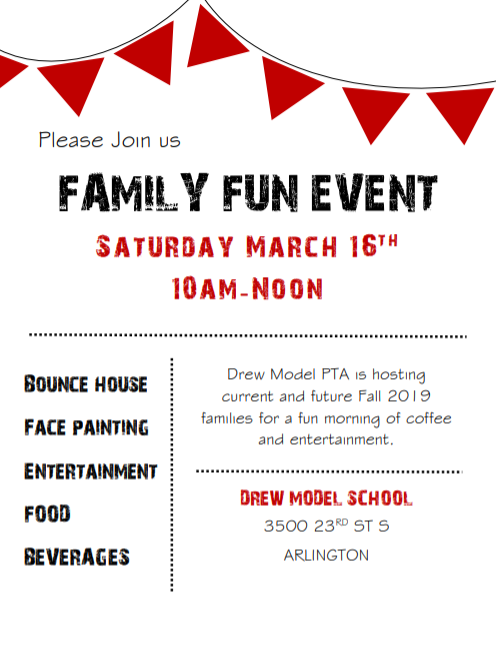 Family Fun with <a target='_blank' href='http://twitter.com/drewmodelpta'>@drewmodelpta</a> <a target='_blank' href='http://twitter.com/APSDrew'>@APSDrew</a> <a target='_blank' href='http://twitter.com/APSVirginia'>@APSVirginia</a> Saturday, March 16th from 10AM - 12 Noon <a target='_blank' href='http://search.twitter.com/search?q=engageaps'><a target='_blank' href='https://twitter.com/hashtag/engageaps?src=hash'>#engageaps</a></a> <a target='_blank' href='http://search.twitter.com/search?q=drewpta'><a target='_blank' href='https://twitter.com/hashtag/drewpta?src=hash'>#drewpta</a></a> <a target='_blank' href='https://t.co/hx1eHK2KCt'>https://t.co/hx1eHK2KCt</a>