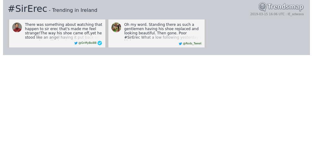 Trendsmap Ireland's photo on #SirErec
