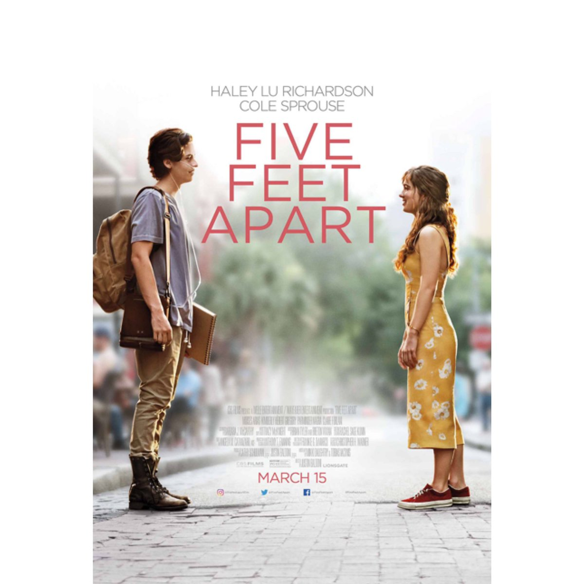 Go see this movie. Bring tissues. Don't wear mascara. Get some sour patch kids. #fivefeetapart