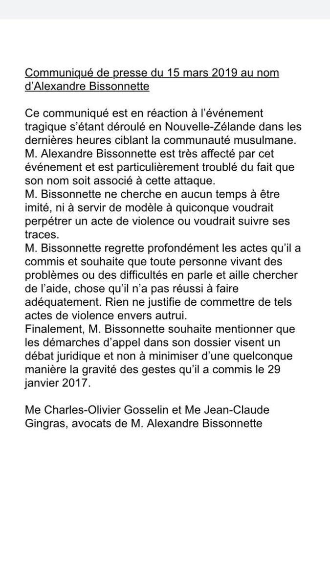 Yannick Bergeron R-C's photo on Alexandre Bissonnette