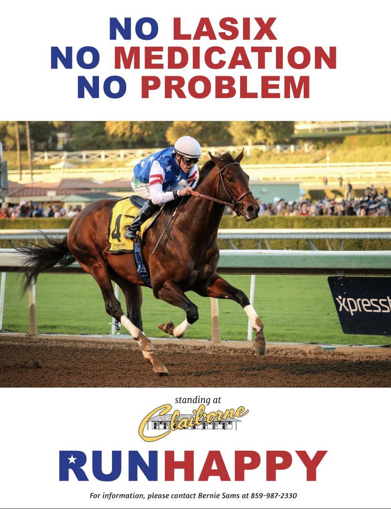 No Lasix, no medication, no problem. Runhappy stands at @claibornefarm.<br>http://pic.twitter.com/88l3m5SZsp