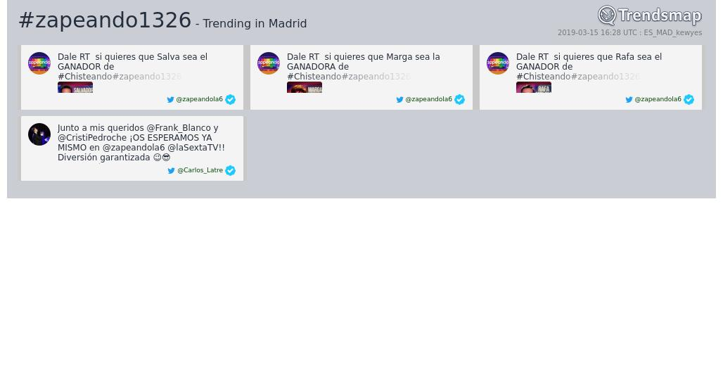 Trendsmap Madrid's photo on #zapeando1326
