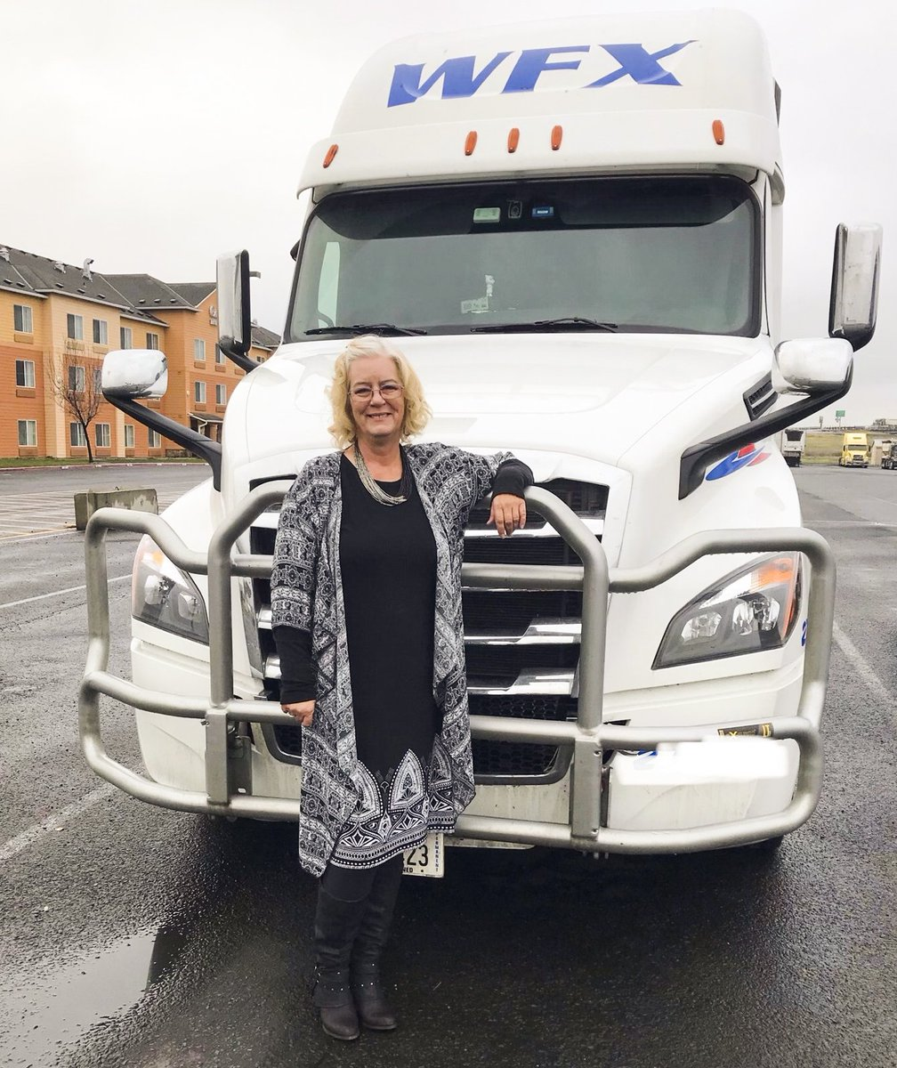 Contractor extraordinaire - Shari Farnsworth!  She steps up for everything thrown her way, even swaps with reefer to get their product delivered in CA on time - She never fails. Thank you for all your hard work Shari 🚛 🚛🚛  #driveWFX #OTRContractor #CDL #ontheroad