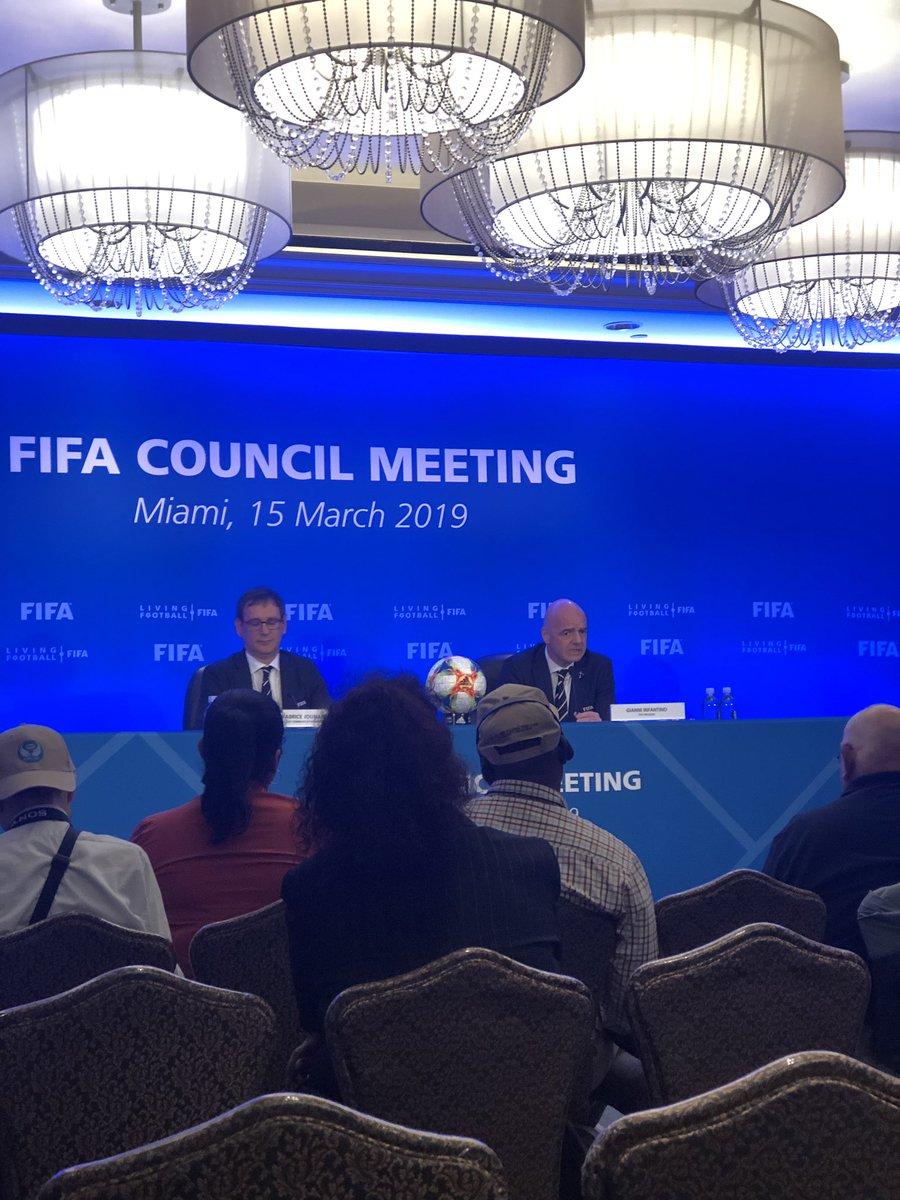 Gianni Infantino: hoy propusimos de nuevo los 48 países para el mundial de   Qatar 2022 pero hasta junio en la conferencia de paris no tendremos una decisión sobre esto.