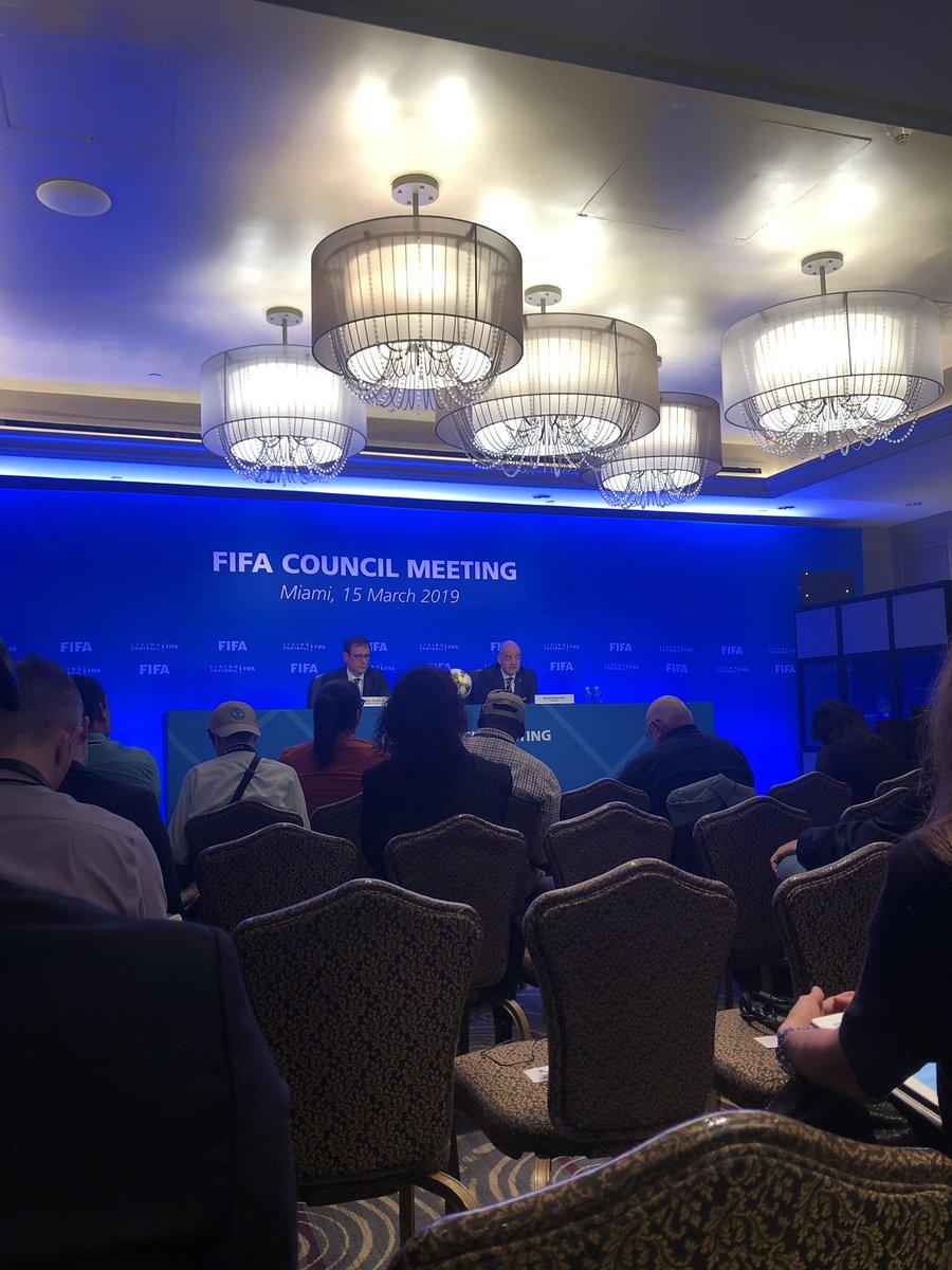 Gianni Infantino: brasil será el anfitrión de la copa del mundo sub 17 sustituyendo a Peru en octubre de este año – at The Ritz-Carlton Coconut Grove, Miami