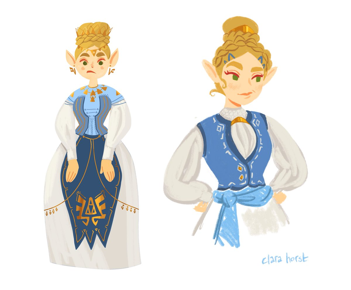 More historical fashion! The first two are sorta Hungarian inspired and the third one is inspired by some of the costumes in The Favourite  #TheLegendOfZelda <br>http://pic.twitter.com/AGIH4b2mQD