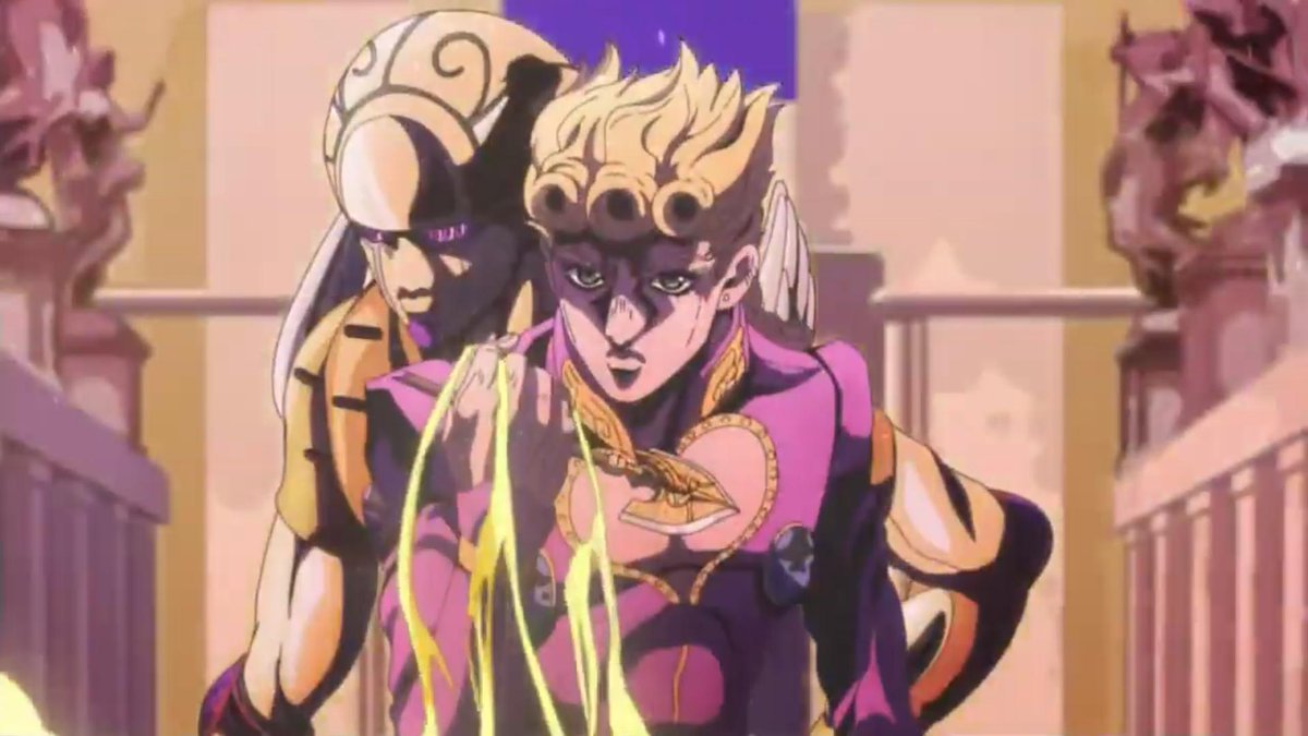 Hachura On Twitter Then There S These Glorious Shots With Giorno Piercing Himself With The Beetle Stand Arrow To Achieve Gold Experience Requiem Https T Co 0jd95uddub Jojo's bizarre adventure requiem arrow. beetle stand arrow to achieve gold