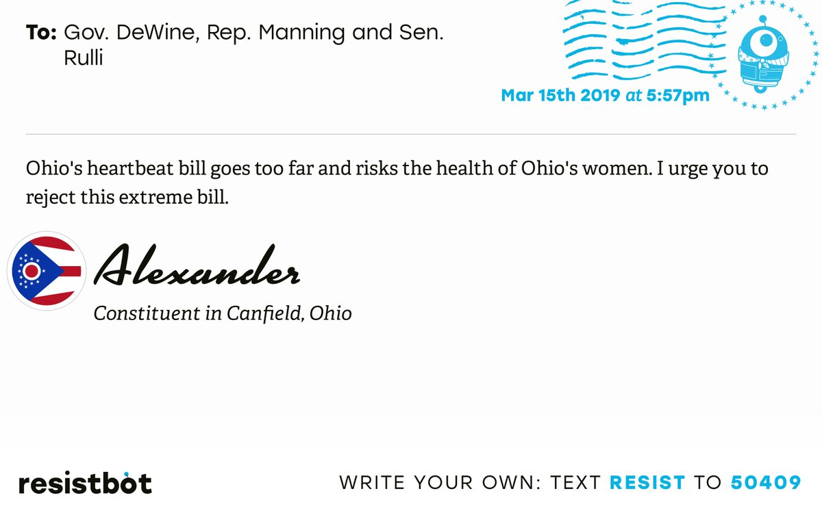 Resistbot Open Letters's photo on Rulli