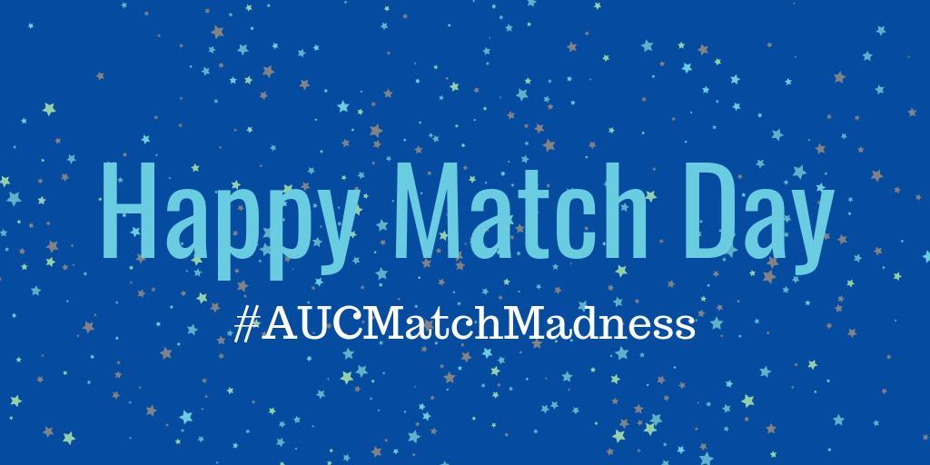AUC Sch of Medicine's photo on #MatchDay2019