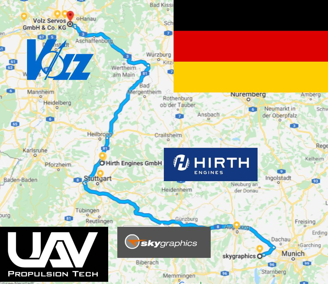 I will be in Germany next week visiting #Hirth, #Volz and #Skygraphics.  Let me know if you have any #propulsion, #servo or rescue/recovery #parachute needs for your #UAV.  https://t.co/L47UzU7lHz. #drones #uas #unmanned https://t.co/PiuT4UamYY