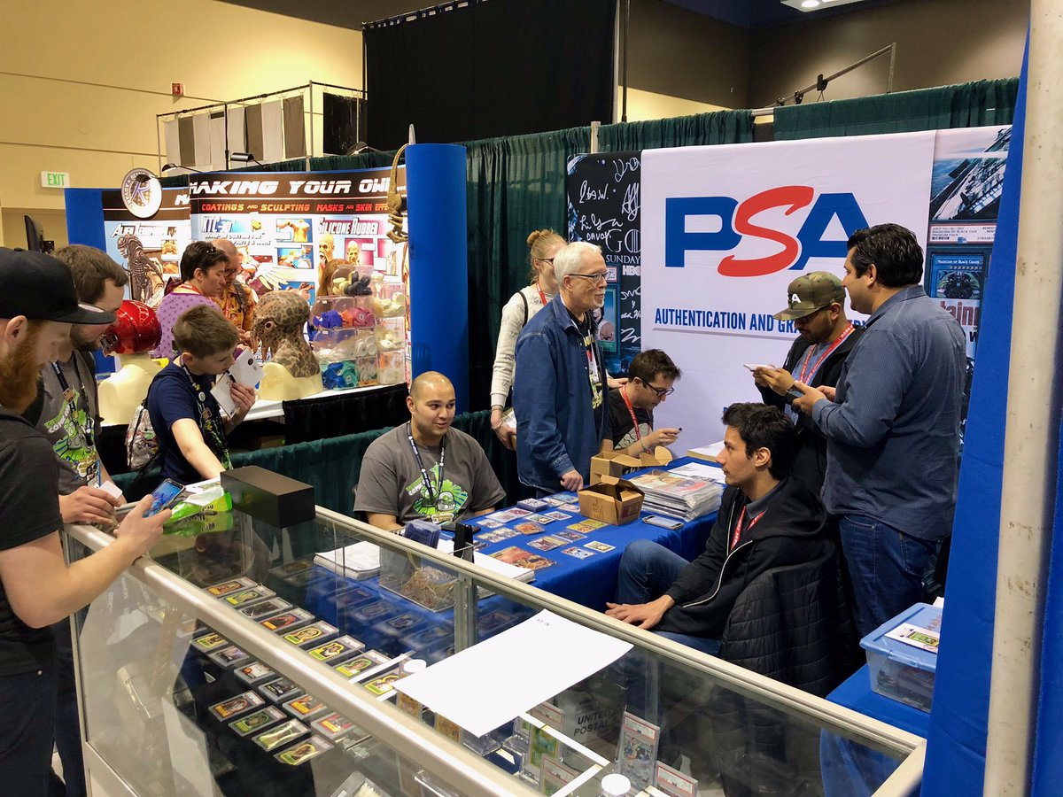 Day 2 of @emeraldcitycon has the PSA booth buzzing. Stop by for autograph authentication if you're at the show! #ECCC2019 #ECCC #emeraldcitycomicon