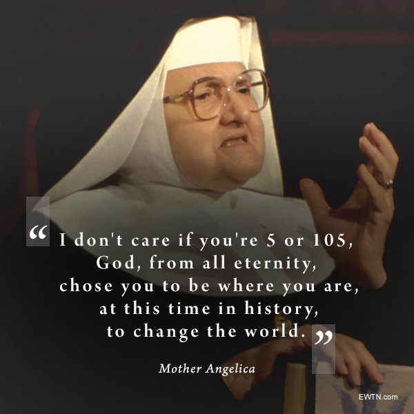 Words of wisdom from #MotherAngelica for your Friday! #Lent @EWTN #FridayMotivation #womenshistorymonth <br>http://pic.twitter.com/AzD07mD2qP
