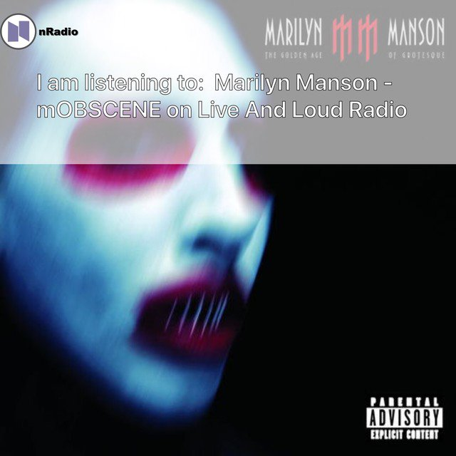 Live And Loud Radio's photo on Marilyn Manson