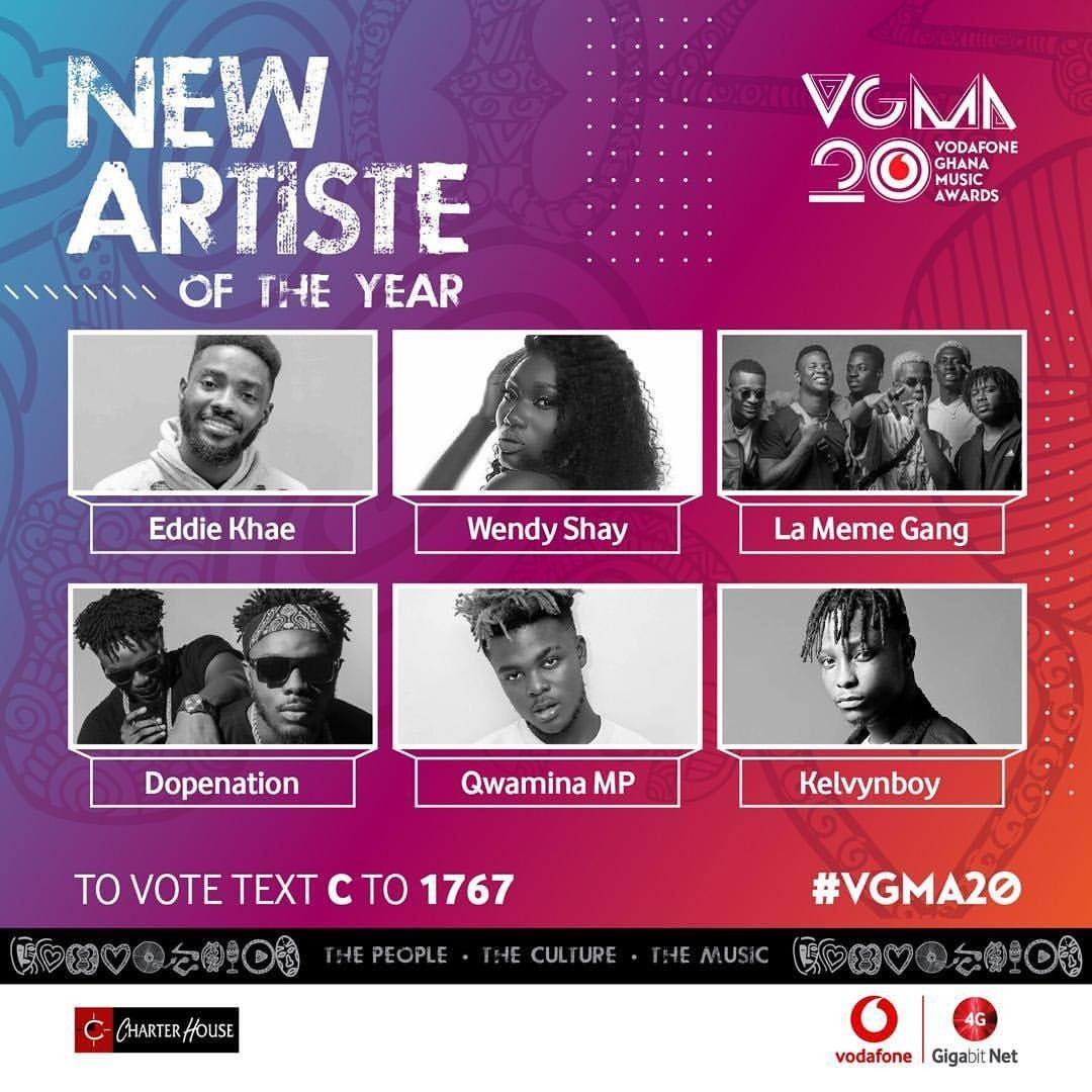 "Bhimnation&#39;s golden boy @kelvynboymusic_  bags nomination for ""New Artiste of the Year"" #VGMA20 after winning Unsung Artiste at last year&#39;s @GHMusicAwards.  #LaiLai  #StonebwoyUpdates <br>http://pic.twitter.com/F14kCDXPFy"