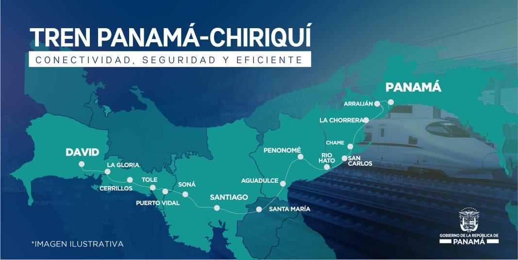Entregarán estudio de factibilidad para la construcción de un tren Panamá-David