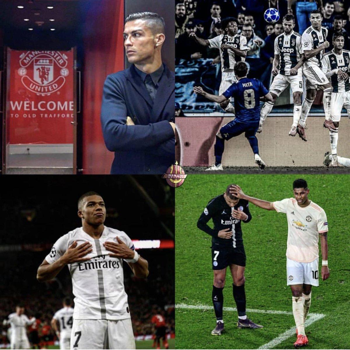 Man United in Pidgin's photo on Ronaldo