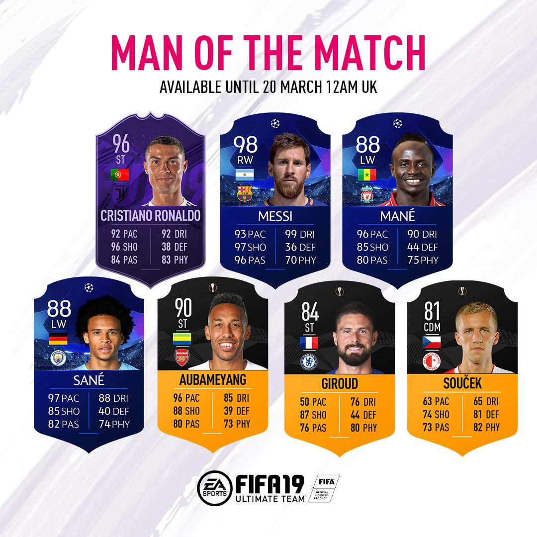 Incredible performances in Champions League and Europe League this week = ������ #MOTM release. #FUT https://t.co/BulD6Df9vk