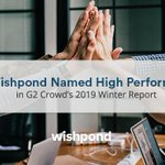 "Wishpond has been ranked as a ""High Performer"" for the Emailing Marketing Software category in @G2 Crowd 2019 Winter Reports. If you're a Wishpond customer,  ❤️️  thank you for choosing us. If you're not, book a free demo to see and why we're a G2 Crowd Award Winner!"