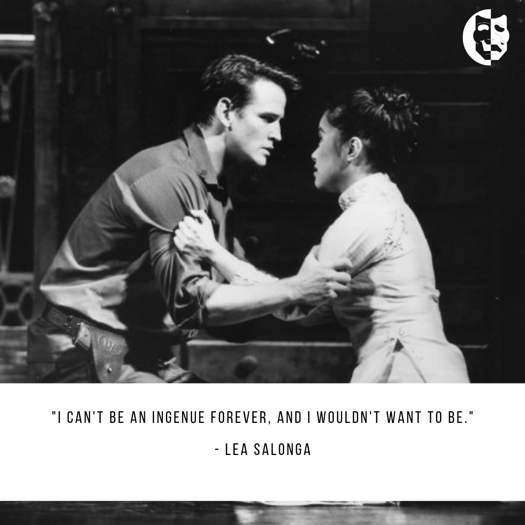 Lea Salonga originated the role of Kim in Miss Saigon in 1989 and continues to have an illustrious career. Who is your favorite mature actress in theater, film, or television?
