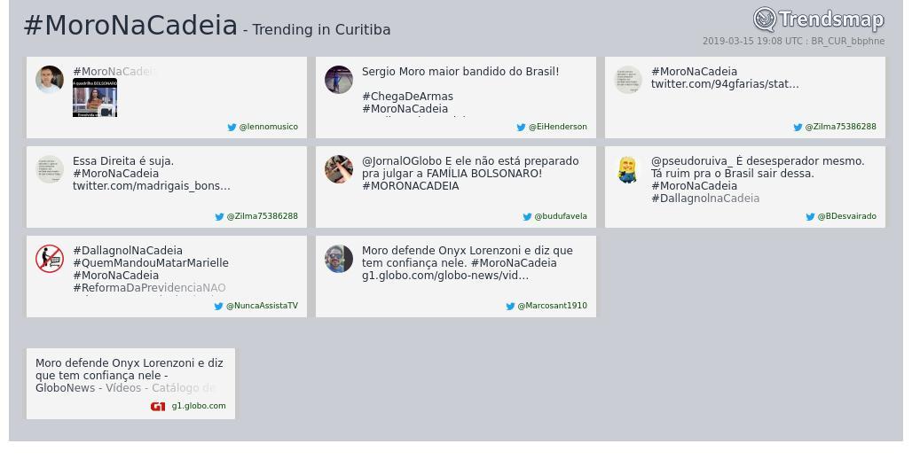 Trendsmap Curitiba's photo on #moronacadeia