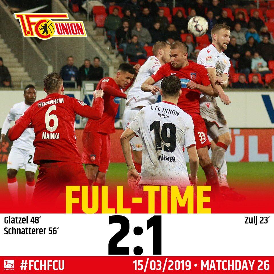 1. FC Union Berlin's photo on #FCHFCU