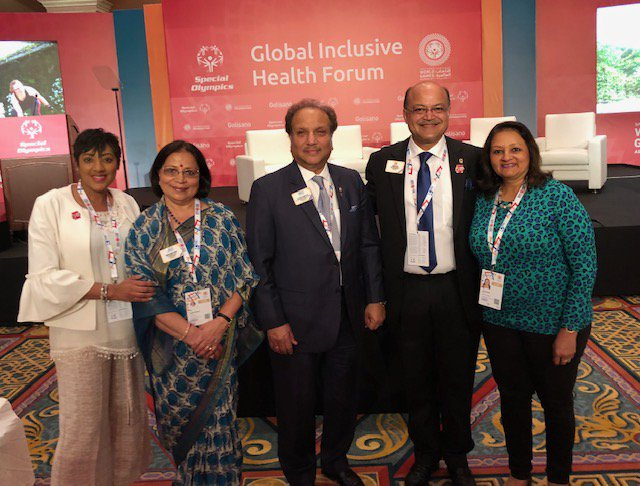 test Twitter Media - LCIF representatives are at @SpecialOlympics World Games in Abu Dhabi to discuss global #inclusivehealth. LCIF is committed to engaging, training, & activating community health workers to support the needs of children & adults with intellectual disabilities. #MeetTheDetermined https://t.co/HtPbfLg4N4