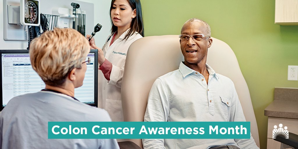 When caught early, #coloncancer can be cured 90 percent of the time. If you are 50 or older or have a family history of colon cancer, talk to your doctor about having a screening test. https://k-p.li/2GRu2UI