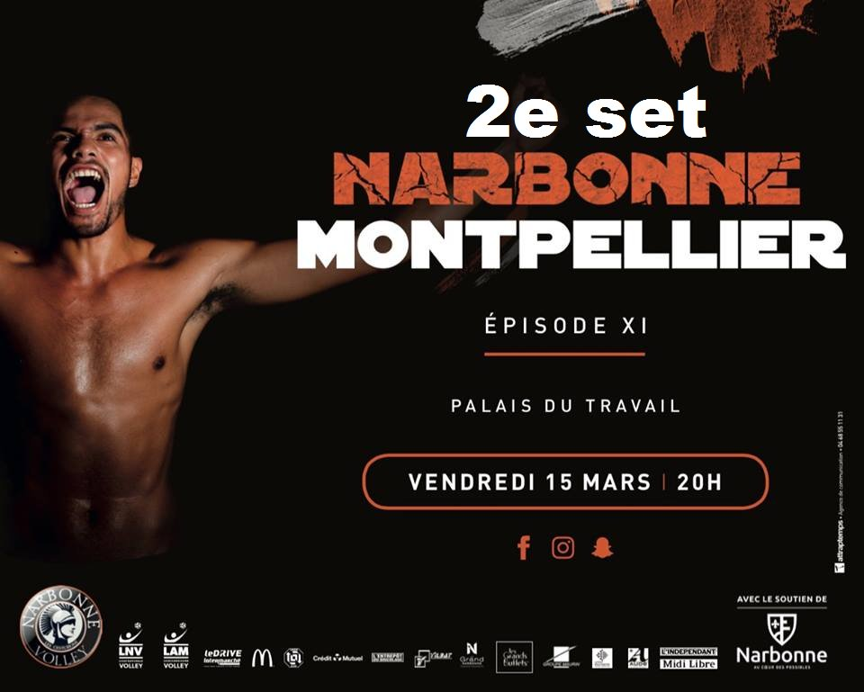 #centurions @LNVofficiel vs @MontpellierVUC. :  0-2 (22-25)...