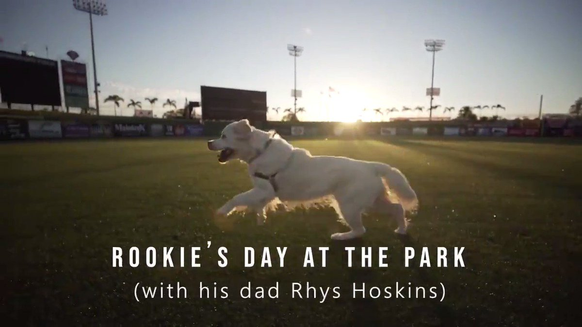 We spent the day with Rookie & his dad @RhysHoskins.   Hit ▶️ for maximum good-boy-ness. 🎾