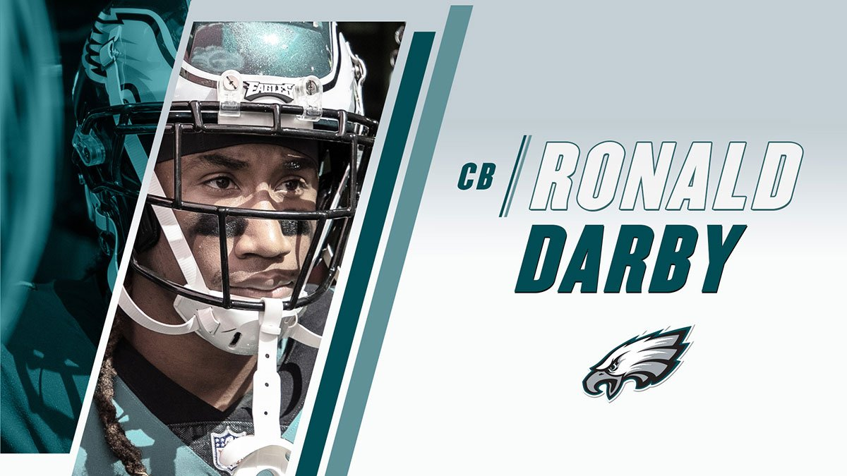Roster Move: #Eagles and CB Ronald Darby have agreed to terms on a one-year contract.  #FlyEaglesFly https://t.co/ICvWKgkMHf